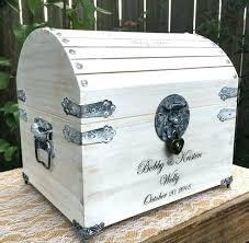 wedding card box with slot rustic lock nautical