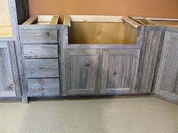 rustic cabinets. Weathered Gray Barn Wood Kitchen Furniture Rustic Cabinets