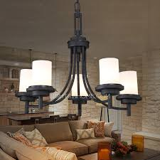 5 light black wrought iron chandeliers cylinder glass shade in chandelier inspirations 18