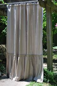 74x90 phoebe style shower curtain in flax linen by ldlinens 295 00 extra long