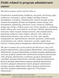 Program Administrator Sample Resume New Top 44 Program Administrator Resume Samples