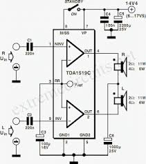 11w stereo 22w mono power amp using tda1519c eeweb community 11w stereo amplifier circuit diagram