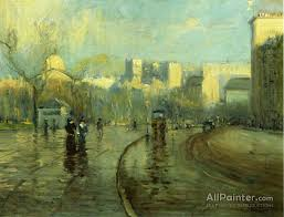 arthur clifton goodwin paintings for early morning tremont street boston