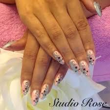Blue pink and diamonds nails. LCN timanttikynnet. | LCN ...