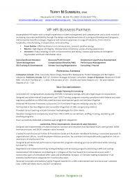 Regular Hr Business Partner Cv Sample Hr Business Partner Resume