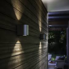 Lutec Gemini Medium W Exterior LED Up And Down Wall Light In - Up and down exterior wall lights