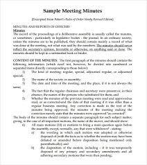 Meeting Summary Sample Sample Meeting Summary Template 7 Documents In Pdf