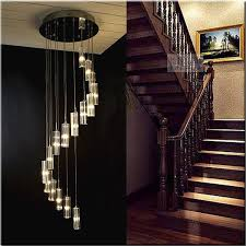 stair lighting fixtures. Staircase Lighting Fixtures. Modern Chandeliers Crystal Stair Long Hanging Lamp Pendant Lamps Home Decorative Fixtures .