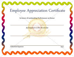 Star Of The Month Certificate Template Star Performer Certificate Templates Free Employee Of The Month