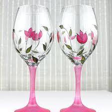 wine glasses wedding glasses anniversary glasses toasting gl