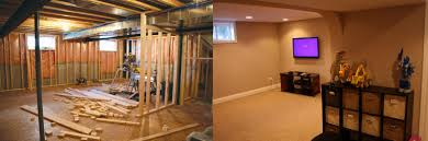 basement remodels before and after. Fabulous Beforeafter With Before And After Basement Renovations Remodels E