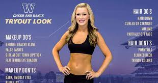 there are 29 hair makeup and body requirements for university of washington s cheerleading tryouts