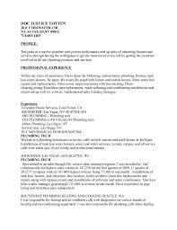 Plumber Resume Extraordinary Doc Resume Plumbing