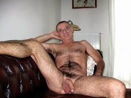 Hairy gay older men cum