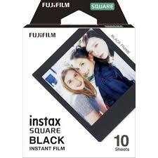 <b>Fujifilm Instax Square Black</b> Border Instant Film 10 Sheets ...