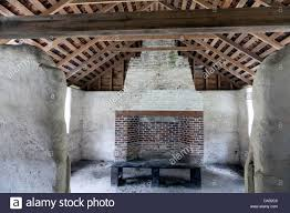Concrete Cabin Brick Fireplace And Tabby Concrete Of The Head Slaves Cabin On