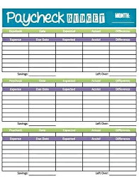 Printable Household Budget Worksheets Blank Household Budget Worksheet Printable Get Paid Weekly And