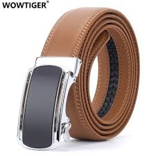 Light Brown Leather Belt Us 9 87 53 Off Wowtiger Fashion Designers Mens Automatic Buckle Leather Luxury Belts Light Brown Male Alloy Buckle Belts For Men Ceinture Homme In