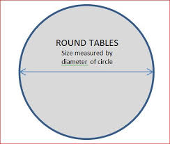 round tables are measured by their diameter some standard sizes include 60 rounds 72 rounds