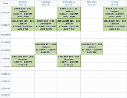 Sample College Class Schedule Fake College Schedule Rome Fontanacountryinn Com