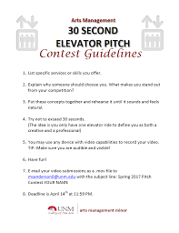 30 Sec Elevator Speech 30 Second Elevator Pitch Contest April 14 Cinematic Arts