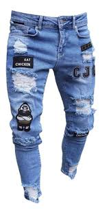 pantalones rasgados hombre