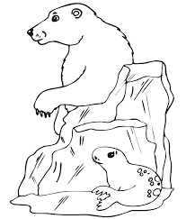 Small Picture Polar Bear Is Diving Coloring Page Free Printable Coloring Pages