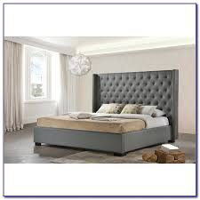 Tufted Wingback Bed King Bedroom Home Decorating Ideas VpyxpQKyEz