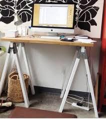 Desk Design Ideas, Diy Sawhorse Tall Desks Make Need Add Shelves Computer  Equipment Pinterest Ideas