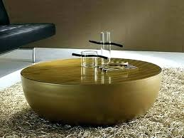 round drum side table kitchen cabinets public library jobs dark metal cage wood top coffee gold round drum side table