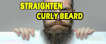 permanently straighten your curly beard