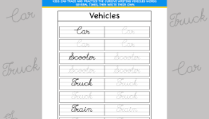 cursive word practice cursive writing b worksheet inky treasure