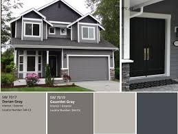 The Perfect Paint Schemes For House Exterior Gauntlet Gray And - House exterior paint ideas