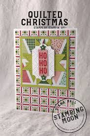 Pink Quilted Christmas Ho Ho Ho Card   Stampingmoon & Quilted Christmas & Ho Ho Ho Labels to Love Card By Diana Ball Stampingmoon Adamdwight.com