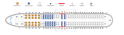 United Plane Seating Chart Boeing 737 900