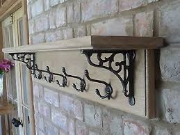 Vintage Style Coat Rack Vintage Style Coat Rack with Shelf Solid Oak Country Cottage Diy 70