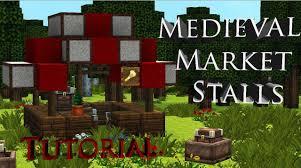 Minecraft Marketplace Design Minecraft Medieval Market Stalls Tutorial Lets Build