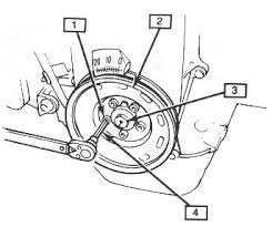 geo tracker timing belt change 1 crank pully bolt 2 crank pully 3 center bolt 4 5mm hex drive used to remove pully bolts