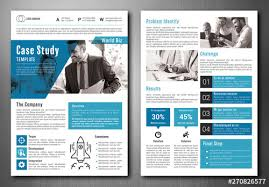 Business Case Study Layout With Blue Accents Buy This Stock