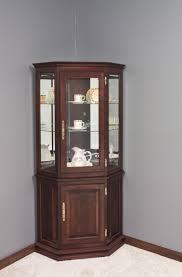 small corner curio cabinet corner curio cabinet for living room