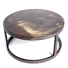 hammered coffee table uk steel nz copper drum
