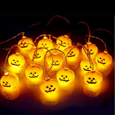 Battery Operated Halloween Mini Lights Buy 16 Leds Battery Operated Halloween Pumpkin Shape String