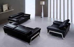 modern leather sofa. Great Black Leather Sofa Set Modern Vg724 Sofas