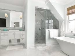 white carrara marble bathroom. Carrara Marble Bathroom Transitional With Bath Tub Bianco Carrara. Image By: Bickford Construction Corporation White L