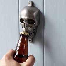 novelty wall mounted bottle opener skull