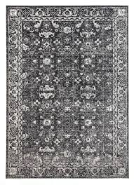 black and white pattern area rug