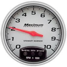 stewart warner performance rpm shift recall horizontal stewart warner performance 10 000 rpm shift recall horizontal scale 5 electric tachometer 114019