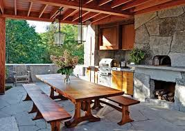 Garden kitchen design