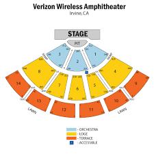 Verizon Wireless Amphitheater Irvine Ca Seating Chart