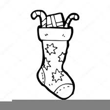 christmas stocking clipart black and white. Fine Stocking Christmas Stocking Clipart Black And White Image Intended P